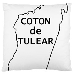 Madagascar Outline With Name Large Cushion Case (two Sides)