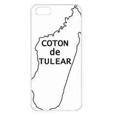 Madagascar Outline With Name Apple Iphone 5 Seamless Case (white)