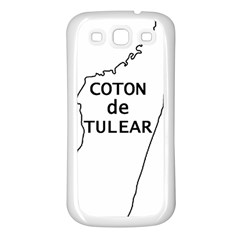 Madagascar Outline With Name Samsung Galaxy S3 Back Case (white)