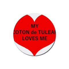 My Coton Loves Me Rubber Coaster (round)