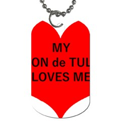 My Coton Loves Me Dog Tag (two Sides)