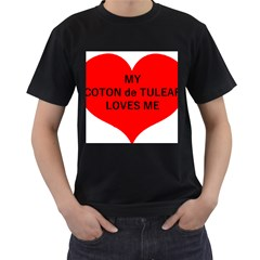 My Coton Loves Me Men s T Shirt (black) (two Sided)