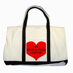 My Coton Loves Me Two Tone Tote Bag