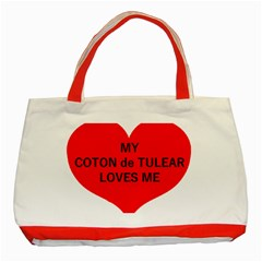 My Coton Loves Me Classic Tote Bag (red)