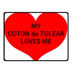 My Coton Loves Me Double Sided Fleece Blanket (small)