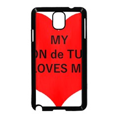 My Coton Loves Me Samsung Galaxy Note 3 Neo Hardshell Case (black)