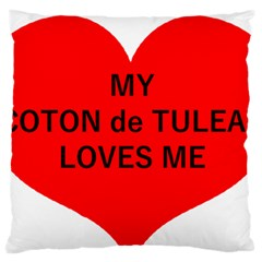My Coton Loves Me Large Flano Cushion Case (one Side)