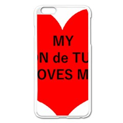 My Coton Loves Me Apple Iphone 6 Plus/6s Plus Enamel White Case