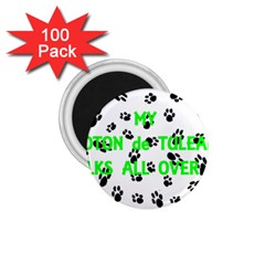 My Coton Walks On Me 1 75  Magnets (100 Pack)