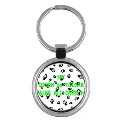 My Coton Walks On Me Key Chains (round)