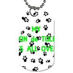My Coton Walks On Me Dog Tag (one Side)