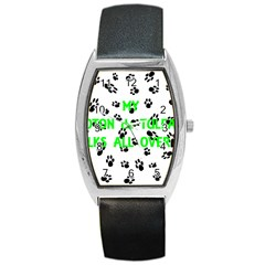 My Coton Walks On Me Barrel Style Metal Watch