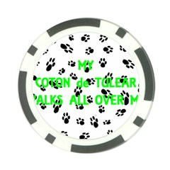 My Coton Walks On Me Poker Chip Card Guard