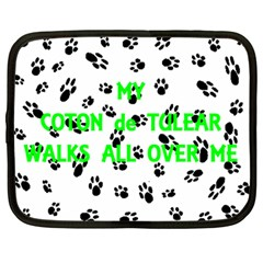 My Coton Walks On Me Netbook Case (large)