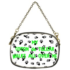 My Coton Walks On Me Chain Purses (one Side)