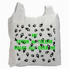 My Coton Walks On Me Recycle Bag (one Side)