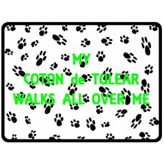 My Coton Walks On Me Fleece Blanket (large)