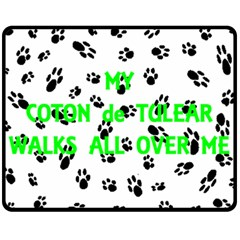 My Coton Walks On Me Fleece Blanket (medium)