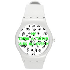 My Coton Walks On Me Round Plastic Sport Watch (m)