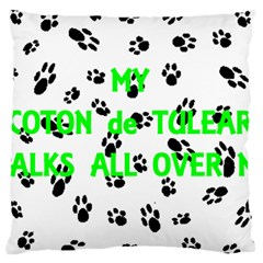 My Coton Walks On Me Large Cushion Case (two Sides)
