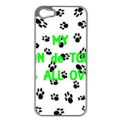 My Coton Walks On Me Apple Iphone 5 Case (silver)