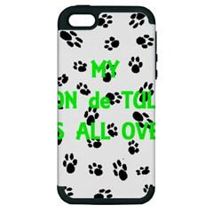 My Coton Walks On Me Apple Iphone 5 Hardshell Case (pc+silicone)