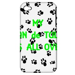 My Coton Walks On Me Apple Iphone 4/4s Hardshell Case (pc+silicone)