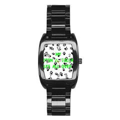 My Coton Walks On Me Stainless Steel Barrel Watch