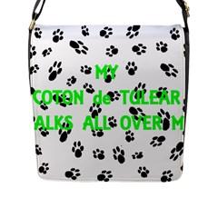 My Coton Walks On Me Flap Messenger Bag (l)