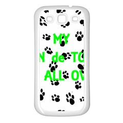My Coton Walks On Me Samsung Galaxy S3 Back Case (white)