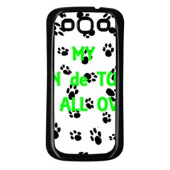 My Coton Walks On Me Samsung Galaxy S3 Back Case (black)