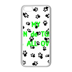 My Coton Walks On Me Apple Iphone 5c Seamless Case (white)