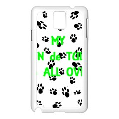 My Coton Walks On Me Samsung Galaxy Note 3 N9005 Case (white)