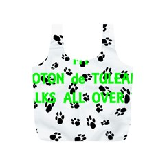 My Coton Walks On Me Full Print Recycle Bags (s)