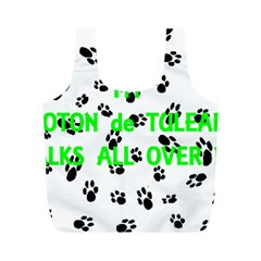 My Coton Walks On Me Full Print Recycle Bags (m)