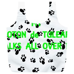 My Coton Walks On Me Full Print Recycle Bags (l)