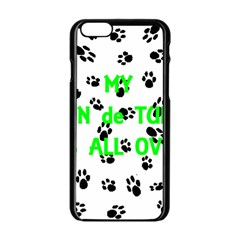 My Coton Walks On Me Apple Iphone 6/6s Black Enamel Case