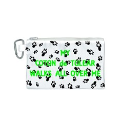 My Coton Walks On Me Canvas Cosmetic Bag (s)