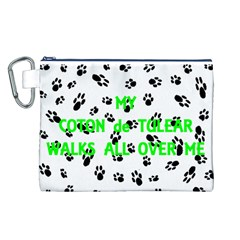 My Coton Walks On Me Canvas Cosmetic Bag (l)