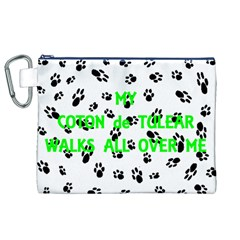 My Coton Walks On Me Canvas Cosmetic Bag (xl)