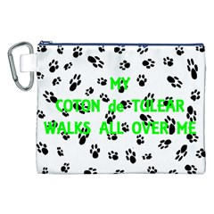 My Coton Walks On Me Canvas Cosmetic Bag (xxl)