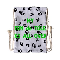 My Coton Walks On Me Drawstring Bag (small)