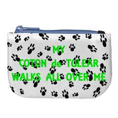 My Coton Walks On Me Large Coin Purse