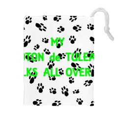My Coton Walks On Me Drawstring Pouches (extra Large)