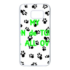 My Coton Walks On Me Samsung Galaxy S7 White Seamless Case