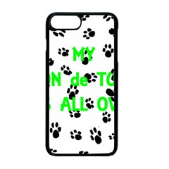 My Coton Walks On Me Apple Iphone 7 Plus Seamless Case (black)