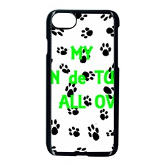 My Coton Walks On Me Apple Iphone 7 Seamless Case (black)