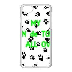My Coton Walks On Me Apple Iphone 7 Seamless Case (white)