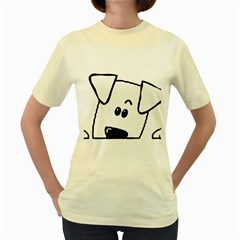 Peeping Coton Women s Yellow T Shirt