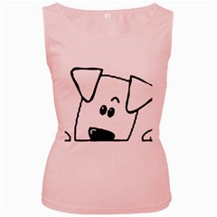 Peeping Coton Women s Pink Tank Top